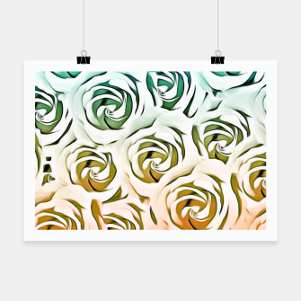 Thumbnail image of blooming rose pattern texture abstract background in blue and pink Poster, Live Heroes