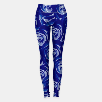 Thumbnail image of blooming blue rose pattern texture abstract background Leggings, Live Heroes