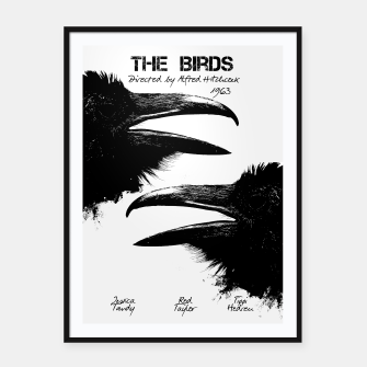 Thumbnail image of The Birds by Alfred Hitchcock Plakaty w ramie , Live Heroes