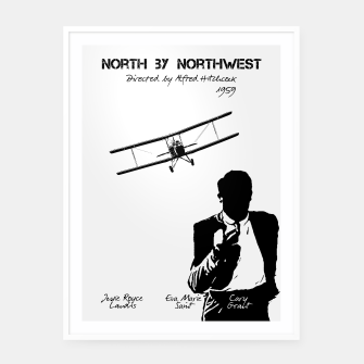 Miniature de image de North by Northwest by Alfred Hitchcock Plakaty w ramie , Live Heroes