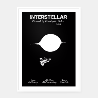Miniaturka Interstellar by Christopher Nolan Plakaty w ramie , Live Heroes