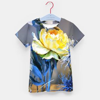 Thumbnail image of Artificial Yellow Flower Enfantin T-shirt, Live Heroes