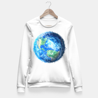 Thumbnail image of Earth Painting Fitted Waist Sweater, Live Heroes