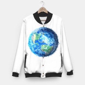 Thumbnail image of Earth Painting Baseball Jacket, Live Heroes