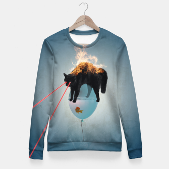 Thumbnail image of Cat-astrophe Fitted Waist Sweater, Live Heroes
