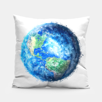 Thumbnail image of Earth Painting Pillow, Live Heroes