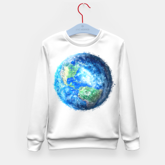 Thumbnail image of Earth Painting Kid's Sweater, Live Heroes