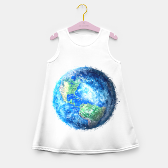 Thumbnail image of Earth Painting Girl's Summer Dress, Live Heroes