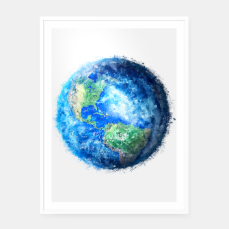 Thumbnail image of Earth Painting Framed poster, Live Heroes