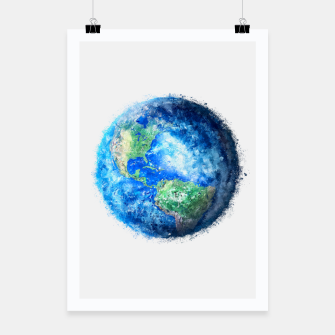 Thumbnail image of Earth Painting Poster, Live Heroes