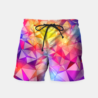 Thumbnail image of Colorful Polygonal Pattern Swim Shorts, Live Heroes