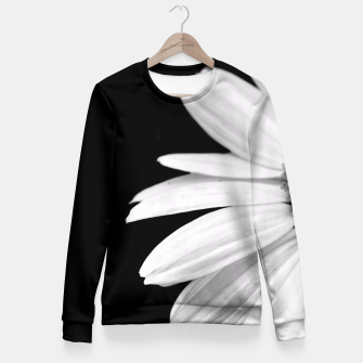 Thumbnail image of Half Daisy In Black And White Fitted Waist Sweater, Live Heroes