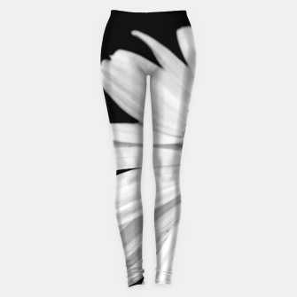 Thumbnail image of Half Daisy In Black And White Leggings, Live Heroes