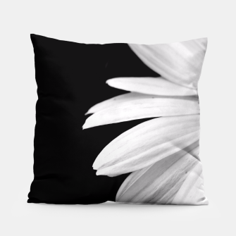 Thumbnail image of Half Daisy In Black And White Pillow, Live Heroes