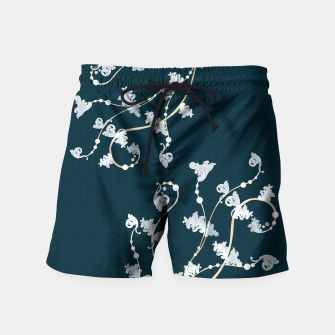 Thumbnail image of Baroque & Japanesque decoration vintage blue Swim Shorts, Live Heroes