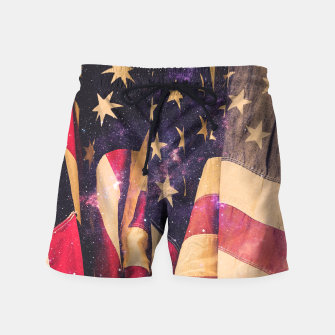 Thumbnail image of TEAM MERICA Swim Shorts, Live Heroes