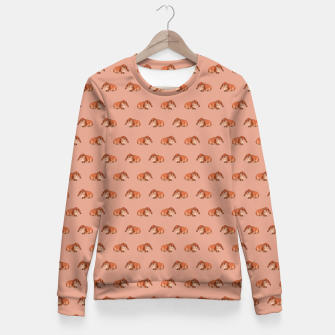 Miniatur Red rabbit ram pattern Fitted Waist Sweater, Live Heroes
