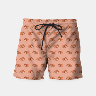 Thumbnail image of Red rabbit ram pattern Swim Shorts, Live Heroes