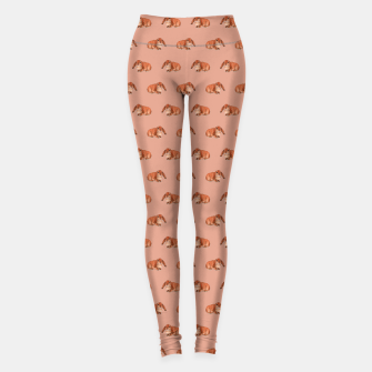 Miniatur Red rabbit ram pattern Athletic Leggings, Live Heroes