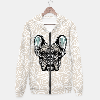 Thumbnail image of French Bulldog Smilling Hoodie, Live Heroes