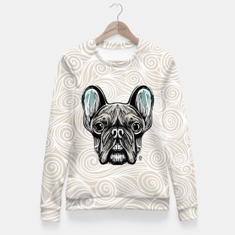 Miniaturka French Bulldog Smilling Fitted Waist Sweater, Live Heroes