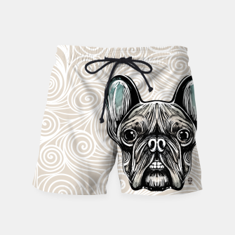 Thumbnail image of French Bulldog Smilling Swim Shorts, Live Heroes