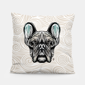 Miniaturka French Bulldog Smilling Pillow, Live Heroes