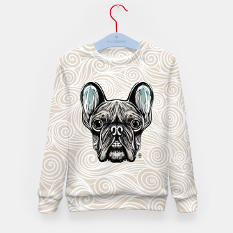 Miniaturka French Bulldog Smilling Kid's Sweater, Live Heroes