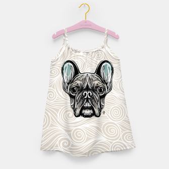 Miniaturka French Bulldog Smilling Girl's Dress, Live Heroes