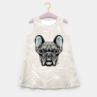 Miniaturka French Bulldog Smilling Girl's Summer Dress, Live Heroes