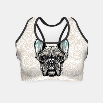 Miniaturka French Bulldog Smilling Crop Top, Live Heroes