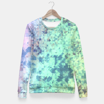 Thumbnail image of Light Geo Abstract Fitted Waist Sweater, Live Heroes