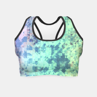Miniatur Light Geo Abstract Crop Top, Live Heroes