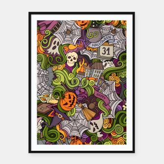 Thumbnail image of Halloween Framed poster, Live Heroes