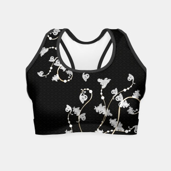 Miniatur Baroque & Japanesque decoration  Crop Top, Live Heroes