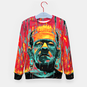 Thumbnail image of Frankenstein Kid's Sweater, Live Heroes