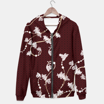 Thumbnail image of Japanese traditional pattern & Baroque decoration Hoodie, Live Heroes