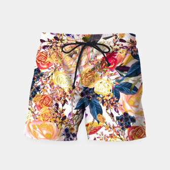 Thumbnail image of Rustic Floral Swim Shorts, Live Heroes