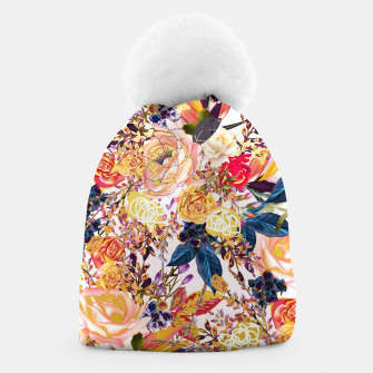 Thumbnail image of Rustic Floral Beanie, Live Heroes