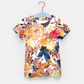 Thumbnail image of Rustic Floral Kid's T-shirt, Live Heroes