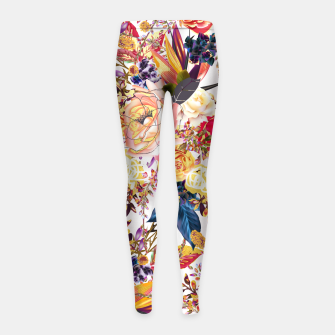 Thumbnail image of Rustic Floral Girl's Leggings, Live Heroes