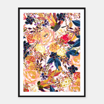 Thumbnail image of Rustic Floral Framed poster, Live Heroes