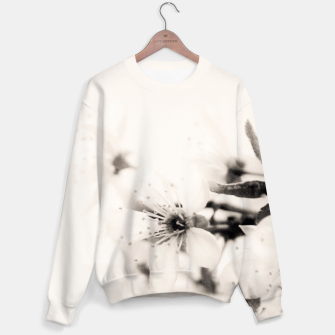 Thumbnail image of Monochrome Blossoms Close-up Sweater, Live Heroes