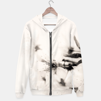 Thumbnail image of Monochrome Blossoms Close-up Hoodie, Live Heroes