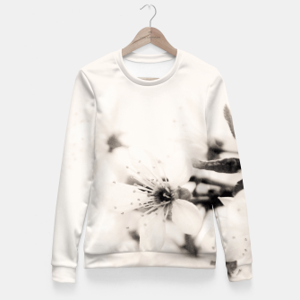Thumbnail image of Monochrome Blossoms Close-up Fitted Waist Sweater, Live Heroes