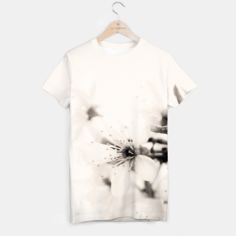Thumbnail image of Monochrome Blossoms Close-up T-shirt, Live Heroes