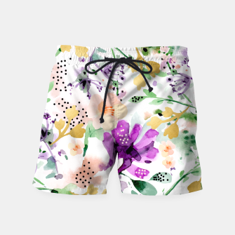Thumbnail image of Violet Swim Shorts, Live Heroes