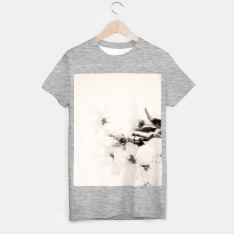 Thumbnail image of Monochrome Blossoms Close-up T-shirt regular, Live Heroes