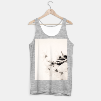 Thumbnail image of Monochrome Blossoms Close-up Tank Top regular, Live Heroes