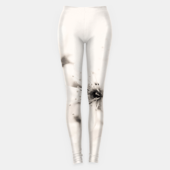 Thumbnail image of Monochrome Blossoms Close-up Leggings, Live Heroes